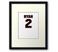 NFL Player Matt Ryan two 2 Framed Print