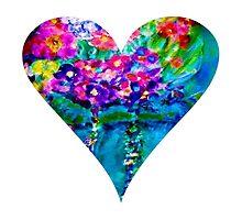 Floral Heart Designer Art Gifts - White by innocentorigina