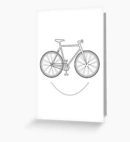 It's a bird, It's a plane, It's a Smiling Bike! Greeting Card