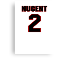 NFL Player Mike Nugent two 2 Canvas Print