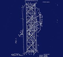 Wright Brothers Flying Machine Patent Art 1906 by Barry  Jones