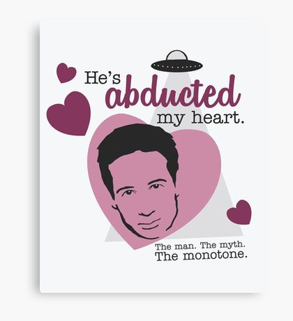 David Duchovny, why don't you love me? Canvas Print