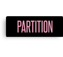 Partition Canvas Print