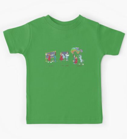Engineering A Differential Drive Unicorn (Rainbow Included!) Kids Tee