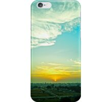 A sunrise by the fields iPhone Case/Skin