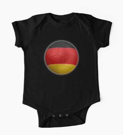 Germany - German Flag - Football or Soccer 2 One Piece - Short Sleeve