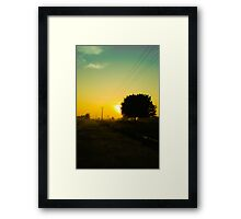 An Orange Sunrise Framed Print
