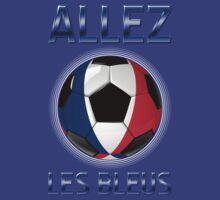 Allez Les Bleus - French Football & Text - Metallic by graphix