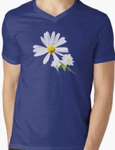 WHITE FLOWER Mens V-Neck T-Shirt