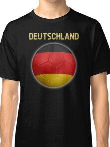 Deutschland - German Flag - Football or Soccer Ball & Text 2 Classic T-Shirt