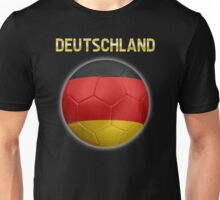 Deutschland - German Flag - Football or Soccer Ball & Text 2 Unisex T-Shirt