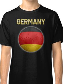 Germany - German Flag - Football or Soccer Ball & Text 2 Classic T-Shirt