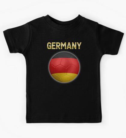 Germany - German Flag - Football or Soccer Ball & Text 2 Kids Tee