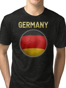 Germany - German Flag - Football or Soccer Ball & Text 2 Tri-blend T-Shirt