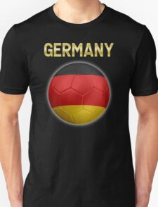Germany - German Flag - Football or Soccer Ball & Text 2 T-Shirt