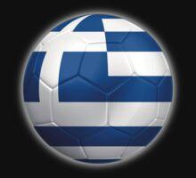Greece - Greek Flag - Football or Soccer 2 by graphix