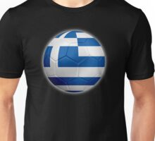 Greece - Greek Flag - Football or Soccer 2 Unisex T-Shirt