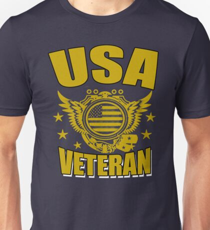 USA VETERAN Gifts Disabled Americans Retired Vets  Unisex T-Shirt
