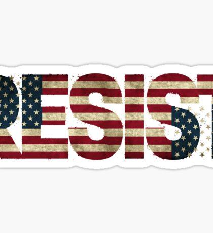'RESIST' USA Protest Flag  Sticker