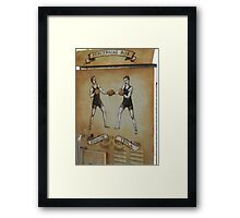 Edison and Tesla Electrical Box Framed Print