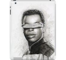 Geordi La Forge Portrait Star Trek Art iPad Case/Skin