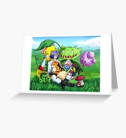 James and his Pokemon Greeting Card