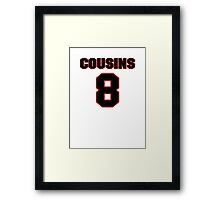 NFL Player Kirk Cousins eight 8 Framed Print