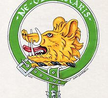 Clan Campbell Scottish Crest by Cleave