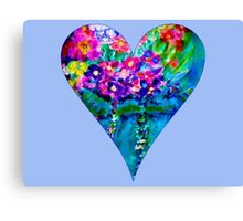 Periwinkle Floral Heart Designer Art Gifts Canvas Print