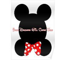 Mickey and Minnie Minimalist Design Poster