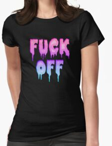Pastel Colors - FUCK OFF - Pastel Goth - Tee Shirt~ Womens Fitted T-Shirt
