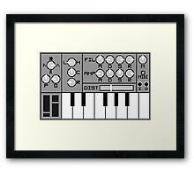 Pixel Synth Framed Print