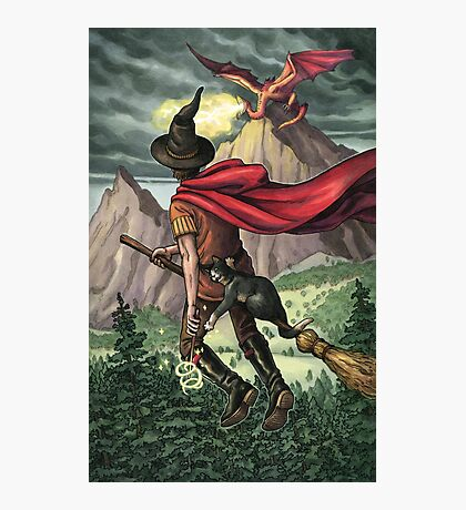 Everyday Witch Tarot - Knight of Wands Photographic Print