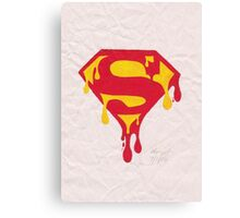 Dripping Superman Symbol Canvas Print