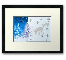 A blue Christmas on all products (5418 Views) Framed Print