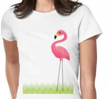 Pink Flamingo Womens Fitted T-Shirt