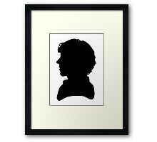 Sherlock Silhouette  Framed Print