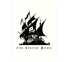 21st Century Pirate Art Print