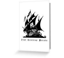 21st Century Pirate Greeting Card