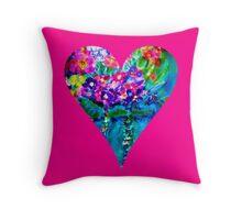 Pink Floral Heart Designer Art Gifts Throw Pillow