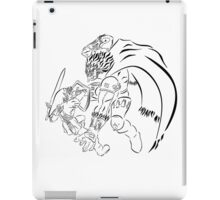Link Vs Ganandorf Ocarina of Time iPad Case/Skin
