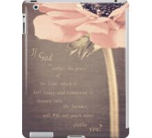 The Grass Of The Field iPad Case/Skin