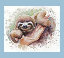 Baby Sloth Watercolor | Animal Art Kids Clothes