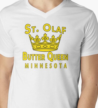 Saint Olaf Butter Queen Minnesota Mens V-Neck T-Shirt