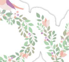 Floral Love Bird Sticker