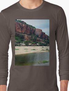 lake beside the mountain Long Sleeve T-Shirt