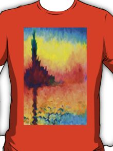 Abstract Impressions lake sea sunset sunrise T-Shirt