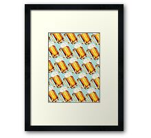 Beer Pattern Framed Print
