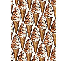 Soft Serve Twist Pattern Photographic Print