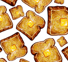 Buttered toast Sticker